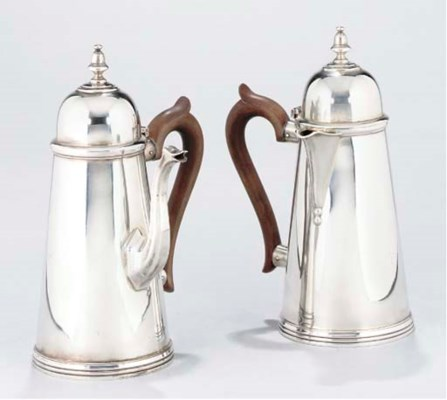 A PAIR OF GEORGE I-STYLE SILVE