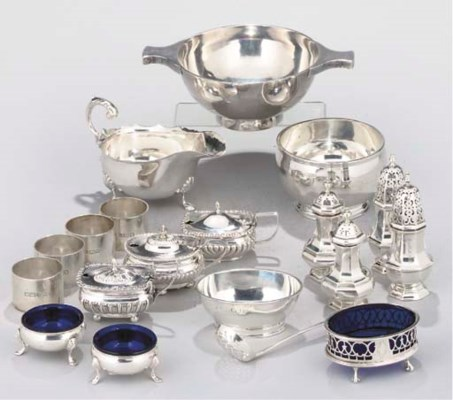 A COLLECTION OF SILVER TABLEWA