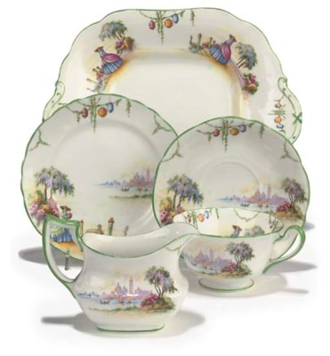 AN AYNSLEY CHINA PART TEA-SERV