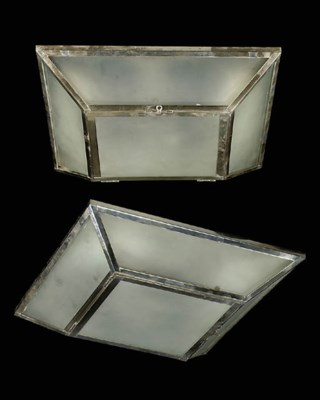 A SET OF FOUR SILVERED METAL A