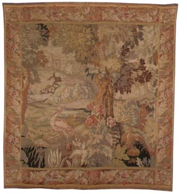 A TAPESTRY DEPICTING BIRDS AMO