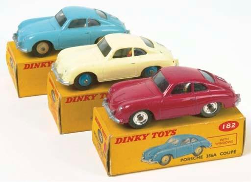 Dinky 182 Porsche 356A Coupés