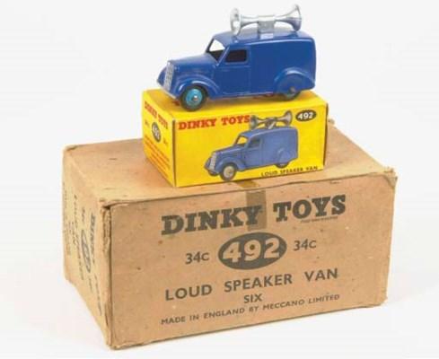 Dinky 492 Loudspeaker Vans