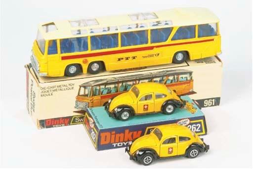 Dinky Swiss PTT Vehicles