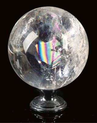 A fine quartz sphere,