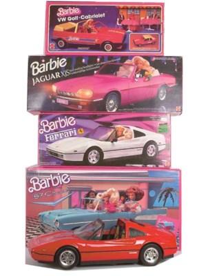 Five Barbie Cars, 1980/90s