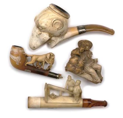A GROUP OF VARIOUS MEERSCHAUM