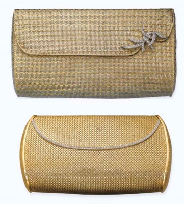TWO 18K GOLD EVENING BAGS