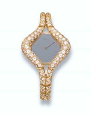 A LADY'S DIAMOND WRISTWATCH, B