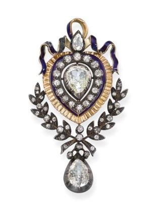 An Antique Diamond and Enamel