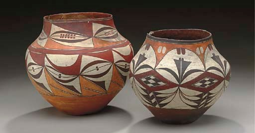 TWO ACOMA POLYCHROME JARS