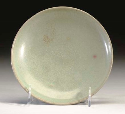 A CHINESE GREEN JUN GLAZED STO