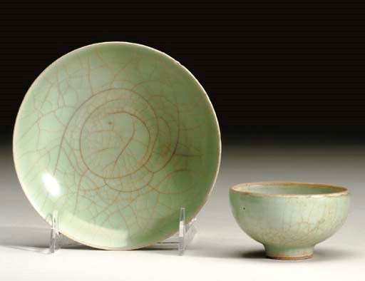 A GROUP OF CHINESE CELADON GLA