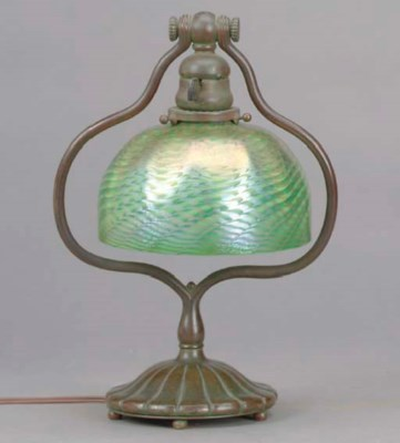 A FAVRILE GLASS AND TIFFANY ST