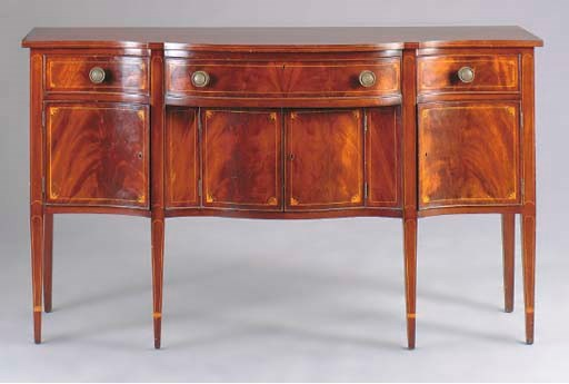 A FEDERAL STYLE MAHOGANY AND S