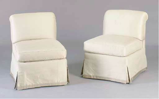 A PAIR OF CONTEMPORARY TAUPE C