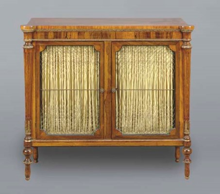 A PAIR OF REGENCY ROSEWOOD PAR