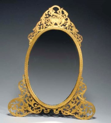 A GEORGE III STYLE GILT AND EN