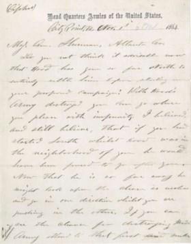 GRANT, Ulysses S Autograph draft telegram signed (