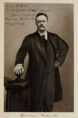 ROOSEVELT, Theodore. Engraved