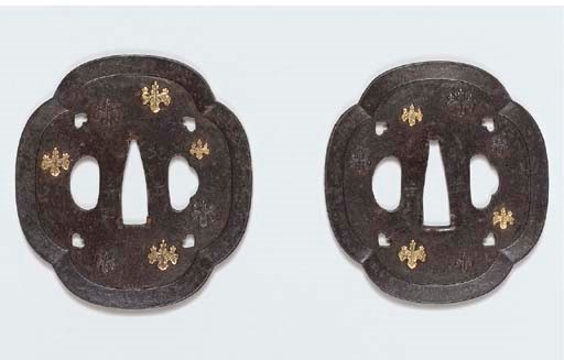 A Pair of Iron Tsuba Daisho