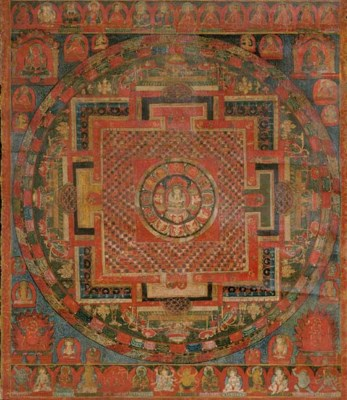 Thangka of the Chaturbhuja Ava
