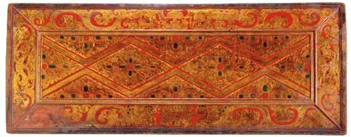A Gilt Wood Manuscript Cover