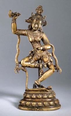 A bronze figure of Vajravarahi