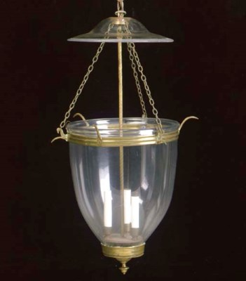 A REGENCY STYLE GLASS AND GILT