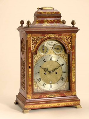 A GEORGE III SCARLET AND GILT-