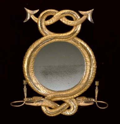 A REGENCY GILTWOOD SERPENT-FOR