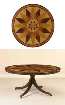 A BRASS-INLAID MAHOGANY AND SP