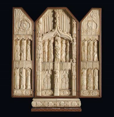A French Gothic revival ivory