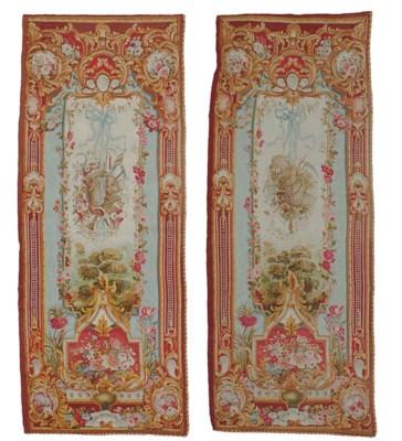 A pair of Napoleon III Aubusso