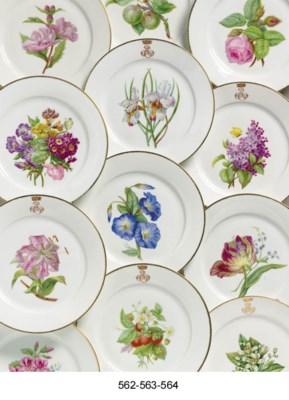 EIGHT SEVRES OUTSIDE-DECORATED