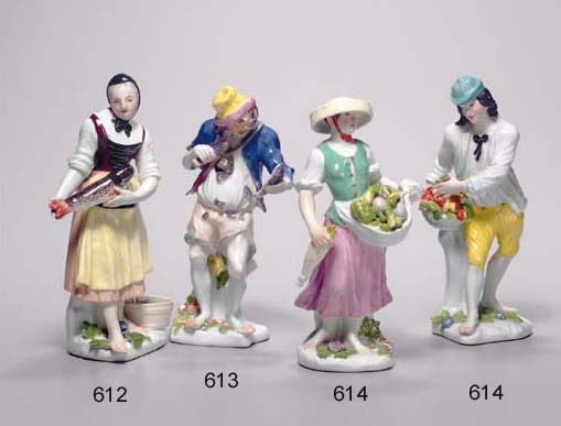 A MEISSEN FIGURE OF A YOUNG FI
