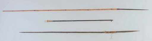 THREE AFRICAN SPEARS,