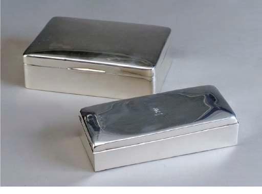 TWO SILVER BOXES,