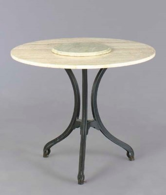 A CONTEMPORARY MARBLE TOP WROU