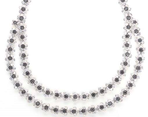 A DIAMOND, COLORED DIAMOND AND