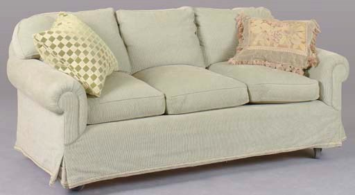 A CONTEMPORARY SOFA UPHOLSTERE