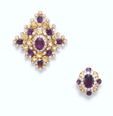 A SET OF YELLOW SAPPHIRE, AMET