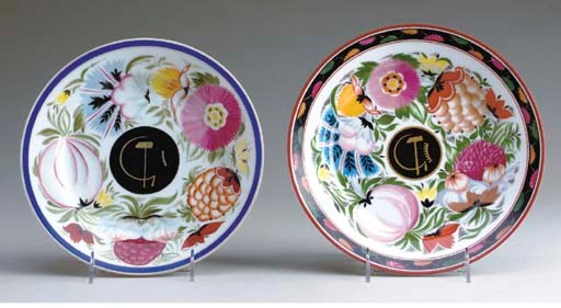 TWO RUSSIAN PORCELAIN PLATES I