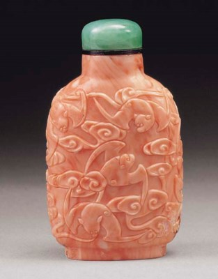 **A RARE AND WELL-CARVED CORAL