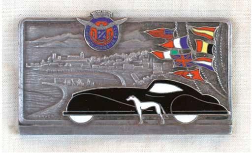 automobile club de cannes concours d 39 el gance du cinquantenaire 1903 1953 belle plaque. Black Bedroom Furniture Sets. Home Design Ideas