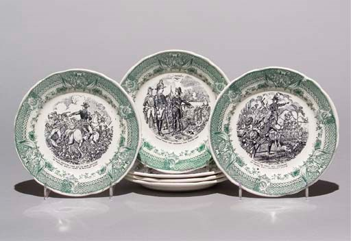 SIX ASSIETTES EN FAIENCE FINE