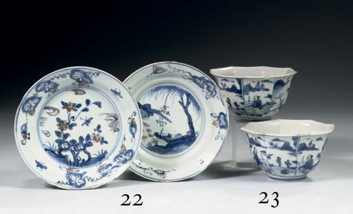 An assorted group of porcelain