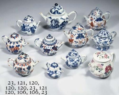 An assorted group of Imari tea