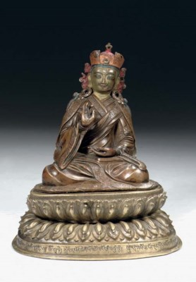 a Tibetan copper and bronze fi