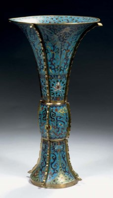 A cloisonne enamel and gilt-br